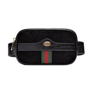 Gucci Ophidia Suede & Leather Belt Bag Size 95